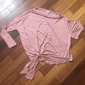 Tops - Long sleeve off the should tie top